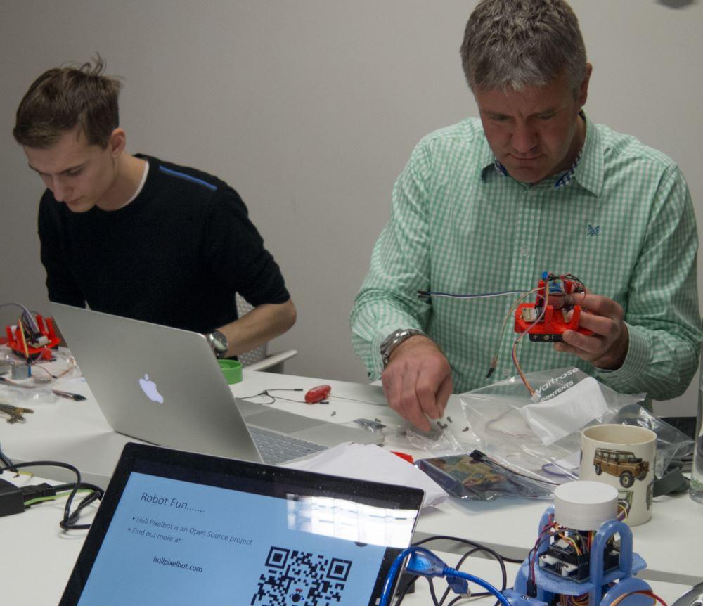 Pixelbot building